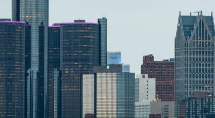 View of Detroit Buildings