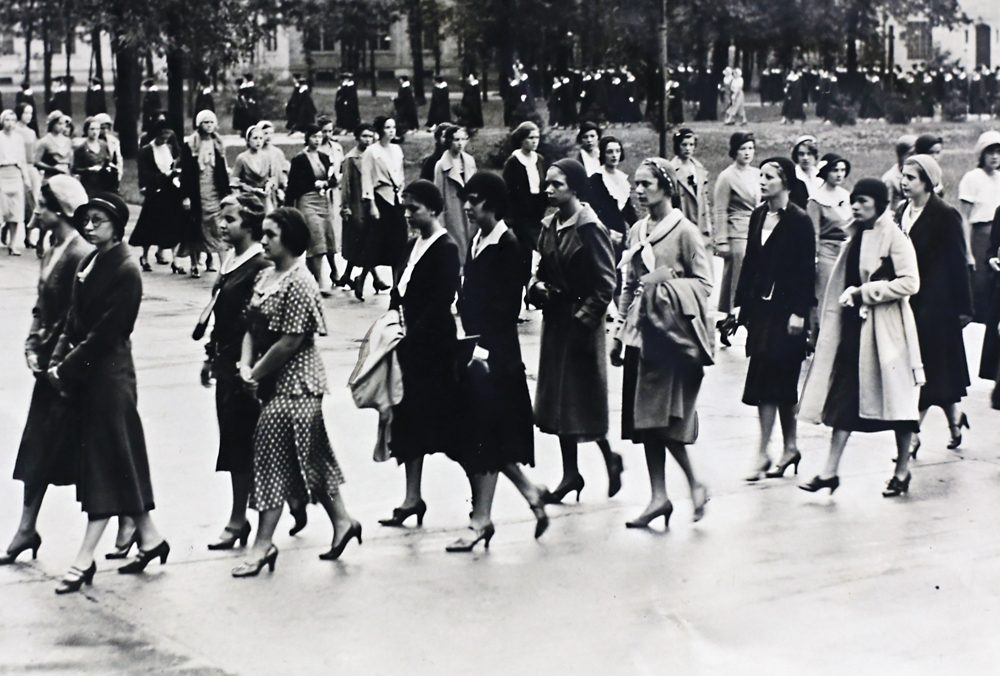 An academic procession at Marygrove College in 1931.