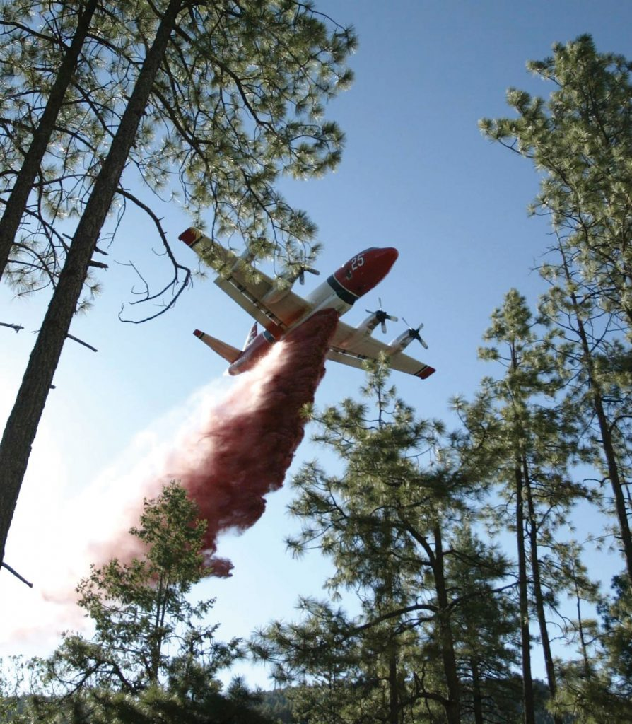 Air tankers dropped 11,000 gallons of fire retardant at a time on Prescott National Forest as crews struggled to contain the Goodwin Fire. One hundred-fifty acres were affected on the fire's first day. By the next day, it had roared across 1,000 acres.