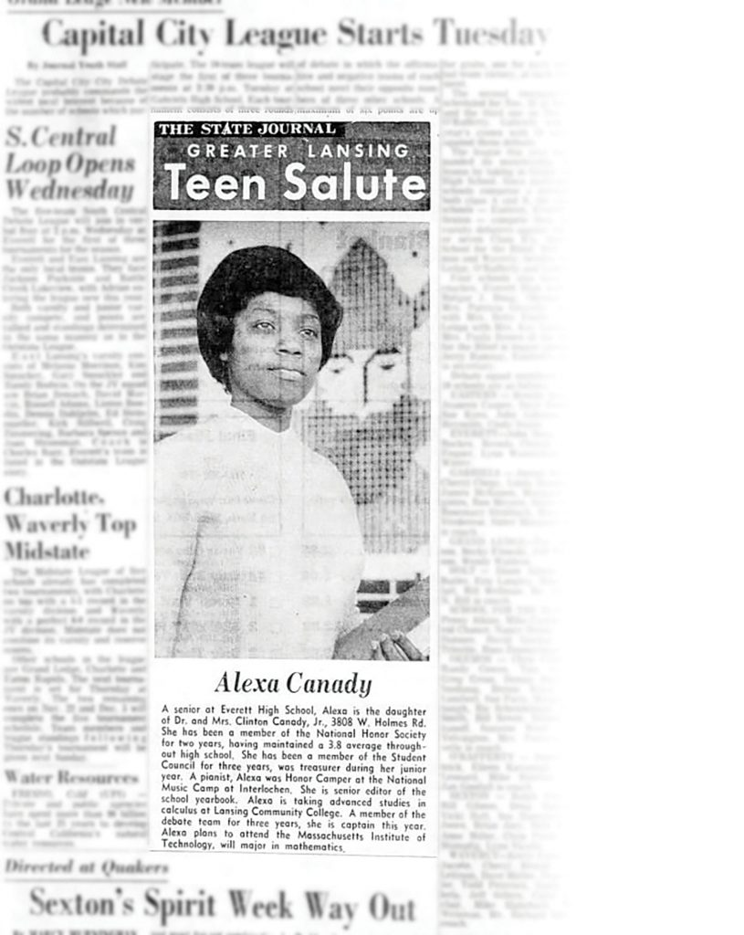 Canady featured in The Lansing State Journal on Nov. 6, 1966.