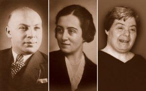 Photo of Karl, Martha, and Arlene Kohn