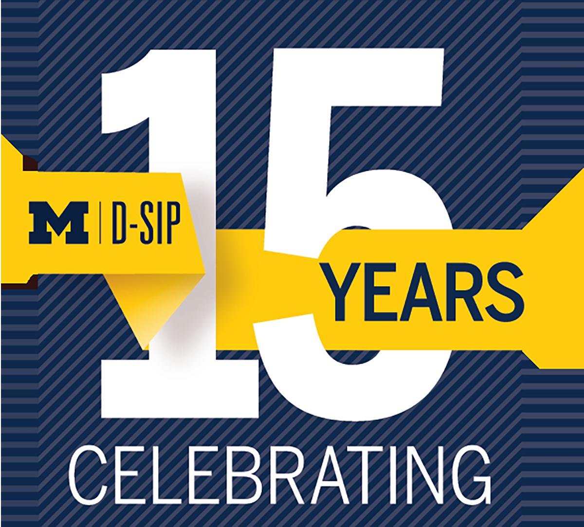 D-SIP Celebrating 15 years logo