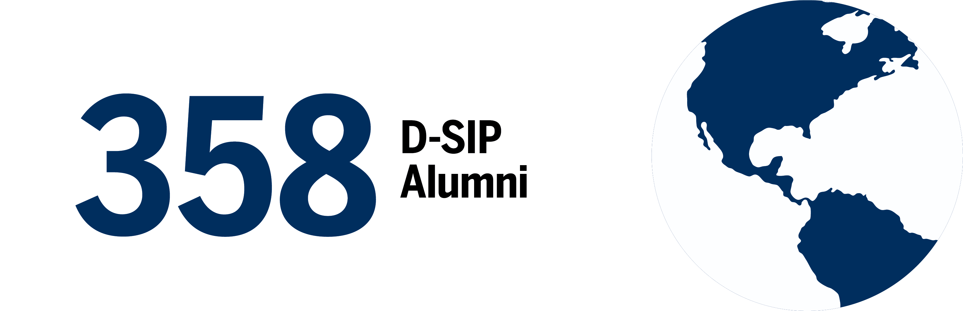 Infographic stating there are 358 D-SIP Alumni